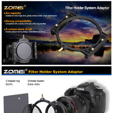 ZOMEI 100mm ND2 4 8 16 filter 16 Slot Case 77mm ring+holder For Camera Lens