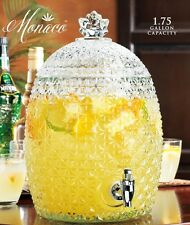 Pineapple Shape Beverage Dispenser 1.75 Gallon Glass Crystal Ice Tea Drink Punch