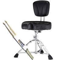 Pearl D-2500BR Drumhocker m. Lehne + 1 Paar keepdrum Drumsticks