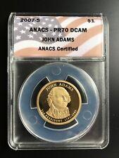 2007-S ANACS PR-70 DCAM JOHN ADAMS $1 COIN UNCIRCULATED
