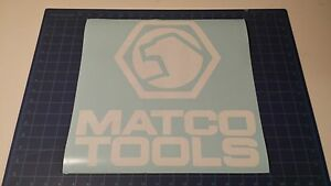 """Matco Tools Sticker 14""""x14"""" inch available White and Black"""