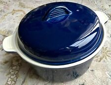 Large Chasseur Heavy Duty Porcelain Casserole Pan & Lid In Perfect Condition