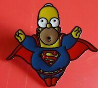 Simpsons Homer SuperMan Hero Pin Enamel Brooch Lapel Badge Cosplay Gift Gaming