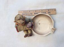Hummel Figurine Boy Playing Accordion Ashtray Repaired