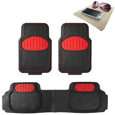 Universal Rubber Floor Mats Football Design Red for Car SUV Van w/ FREE Gift