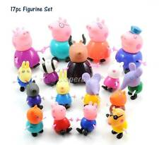 17pc Peppa Pig Figurine For Cake Decoration Topper Figure Toy Decorate PVC Set