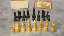 Wm F. Drueke Chessmen Set No. 00 Wood Vintage Game