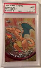2000 Topps Chrome Pokemon TV Animation Charizard #6 PSA 9 Mint