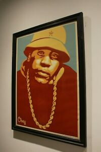 Obey Poster | LL COOL J RED | Signed By Shepard Fairey