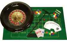 Deluxe Poker 16-Inch Roulette Wheel Casino Game Table Set with Accessories, New
