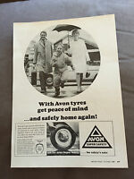 VINTAGE 1960s AVON SUPER SAFETY TYRES CAR ORIGINAL ADVERT