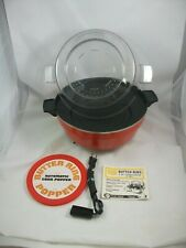 Vintage Butter Ring Automatic Corn Popper 1970's Sears Electric Popcorn Maker