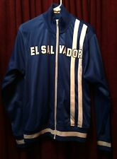 Blue El Salvador track jacket - football soccer athletic warm-up zipper jumper