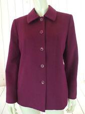 Talbots Petites Blazer Coat 8 NEW Cranberry Wool Silk Angora Made in Italy CHIC!