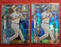 (2) 2020 Topps Chrome COREY SEAGER #196 Prizm Refractor Lot! LOS ANGELES DODGERS