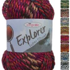King Cole Explorer Super Chunky 100g Multi-Coloured Knitting Crochet Yarn