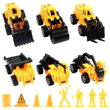 6Pcs Children Kids Diecast Plastic  Construction Vehicles Mini Excavator Toy Set