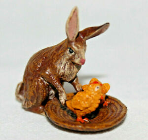 Original Vienna Bronze, hare with basket and chick