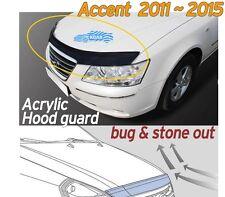 Acrylic Bonnet Hood Guard Garnish Deflector D-656 for Hyundai ACCENT 2011 ~ 2017