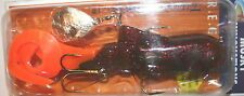 "9"" Heli Dawg Black Orange Glitter Bull Dawg Musky Innovations Pike Plastic Body"