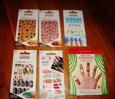 NEW Holiday NAIL ART Stickers KISS Accent Mani Finger Tattoo FUN Christmas FALL
