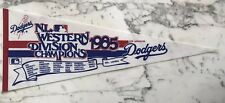 LOS ANGELES DODGERS 1985 WEST DIVISION CHAMPIONS PENNANT