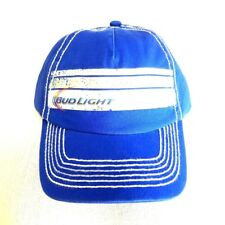 cb3a4b4f697 Bud Light Strap Back Hat Trucker Style Royal Blue Budweiser Beer Cap