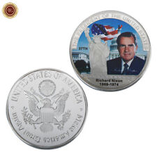 WR 1969 Richard Nixon Singed SILVER Collectors Coin America President Souvenirs