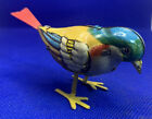Vintage German Kohler GNK Tin Lithograph Wind Up Bird with Plastic Tail