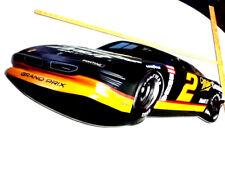 Miller beer sign LARGE wall tacker 3-d race car Pontiac grand prix genuine draft