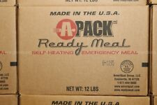 Case of MREs Ready Meals Read to Eat   Mfc. Year 2011 - 12 meals each has heater