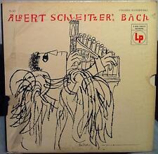 ALBERT SCHWEITZER bach 3 LP VG+ SL 223 Vinyl  Record