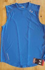 Under Armour Men's Heatgear Draft 3 Sleeveless Running T shirt Blue 1207909 485