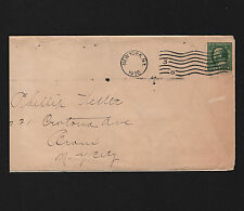 OPC 1910 New York Review of Reviews Co. Sc#343 Schermack with Control Perfin