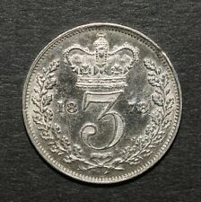 More details for 1878 threepence. victoria british silver threepence.