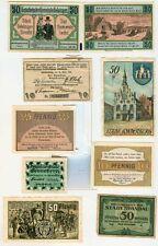 Notgeld:Selsingen 2 x,Sonderburg 2x,Schönberg/M 2x,Spandau,Sonneberg,Sigmaringen