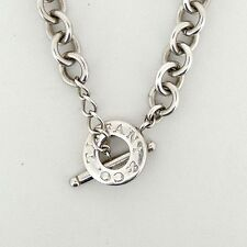 Estate Tiffany & Co Sterling Silver Toggle Chain Link Necklace - VR