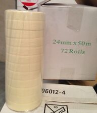 12 Rolls 24mm x 50m Masking Paint Car Spray Tape FREE SYD METRO DELIVERY
