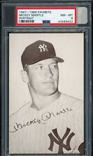 Mickey Mantle 1947-66 Exhibits Portrait Yankees Card PSA 8