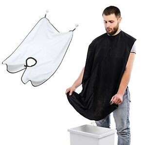 Facial Hair Trimming Catcher Beard Whiskers Bib Shaving Apron Cape Cloth for Men