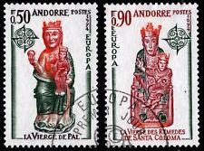1974 French Andorra Sc #232-233 EUROPA / Religion set CDS Used; SCV $10.00