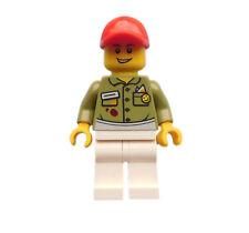 Lego Gas Station Attendant Red Baseball Cap White Legs Deli Owner TWN253