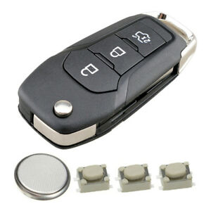 3 button remote key fob case repair kit for Ford Fiesta Focus KA Mondeo Transit
