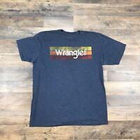 Wrangler Men's Size Large Western American Rodeo Cowboy T Shirt Short Sleeve