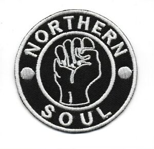 NORTHERN SOUL : Classic Fist KTF - High Quality Patch - Iron On Sew On