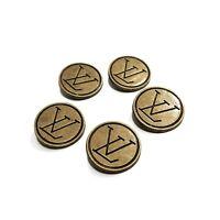5 Louis Vuitton Buttons | LV Brass 22mm