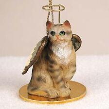 SHORTHAIR BROWN TABBY ANGEL CAT CHRISTMAS ORNAMENT HOLIDAY  Figurine