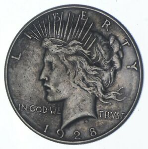 Early - 1928-S - Peace Silver Dollar - 90% US Coin *580