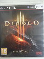 DIABLO 3 Playstation 3 PS3 pal con DLC elmo infernale. COmpletamente in italiano