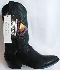 New ABILENE 8.5 D Black SNAKE Made In USA Snakeskin Cowboy Boot NEW OLD STOCK